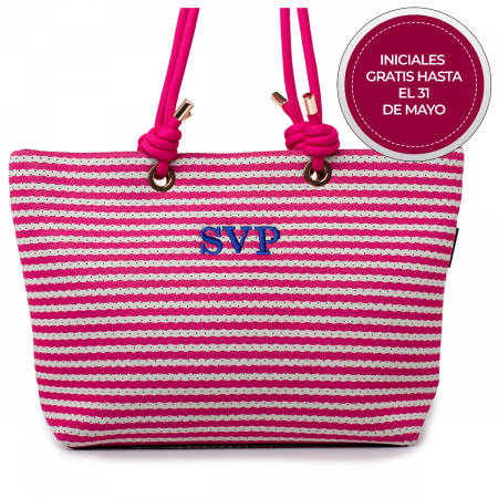 BOLSO SHOPPER MARINERO FUCSIA